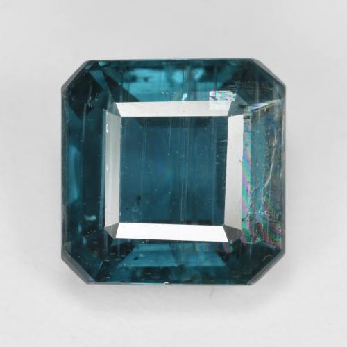 Prussian Blue Kyanite Gem - 5.2ct Octagon Step Cut (ID: 488891)