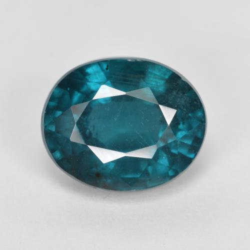 Bluish Green Kyanite Gem - 4.2ct Oval Facet (ID: 488892)
