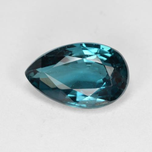 Deep Blue Green Kyanite Gem - 3.3ct Pear Facet (ID: 488896)