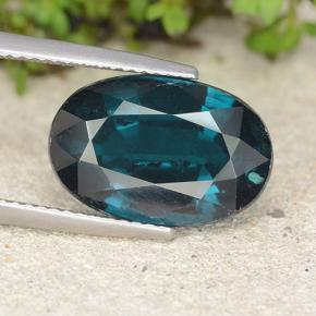 Intense Blue Green 蓝晶石 Gem - 10.6ct 椭圆形切面 (ID: 488900)