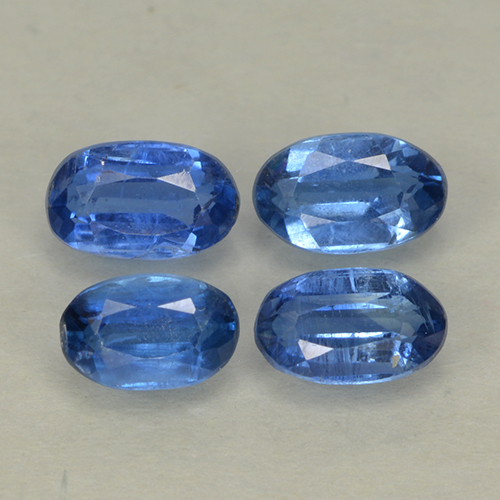 Blue Kyanite Gem - 0.4ct Oval Facet (ID: 499570)