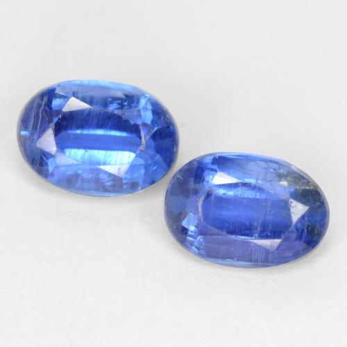 Dark Blue Kyanite Gem - 0.6ct Oval Facet (ID: 545066)