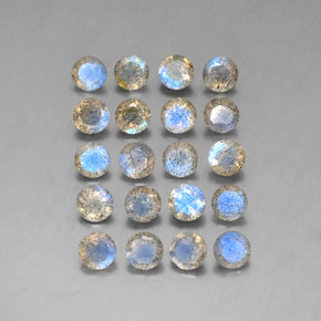 7.77 ct total Natural Multicolor Labradorite