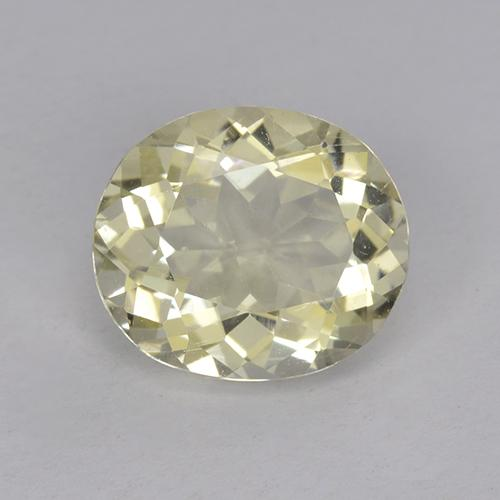 Pale Yellow Labradorite Gem - 1.6ct Oval Facet (ID: 470385)