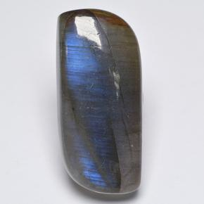 Blue-Sheen Gray Labradorite Gem - 14.9ct Fancy Cabochon (ID: 499681)