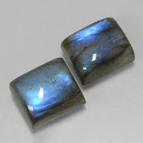 Blue-Sheen Gray Labradorite Gem - 6.7ct Baguette Cabochon (ID: 501851)