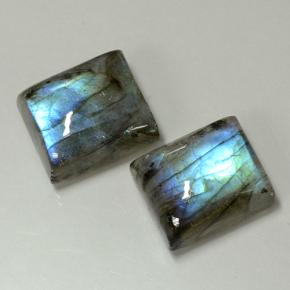Blue-Sheen Gray Labradorite Gem - 5.8ct Baguette Cabochon (ID: 502924)