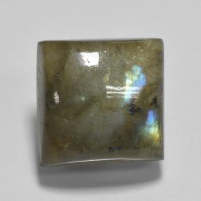 Blue-Sheen Gray Labradorite Gem - 5.5ct Square Cabochon (ID: 503112)