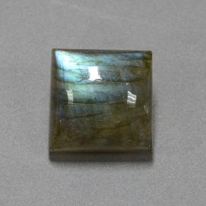 Blue-Sheen Gray Labradorite Gem - 16.5ct Square Cabochon (ID: 505261)