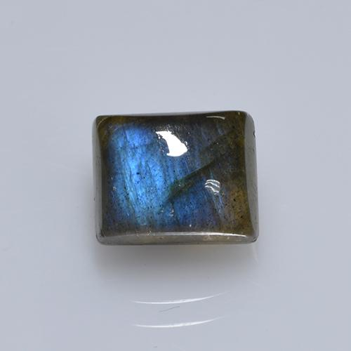 Blue-Sheen Gray Labradorite Gem - 2.9ct Baguette Cabochon (ID: 505276)