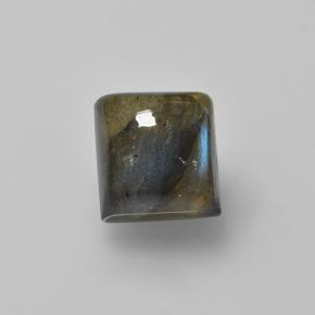 Multicolor Labradorite Gem - 1.9ct Square Cabochon (ID: 505684)