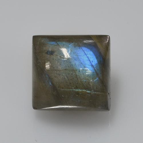 Blue-Sheen Gray Labradorite Gem - 5ct Square Cabochon (ID: 505707)