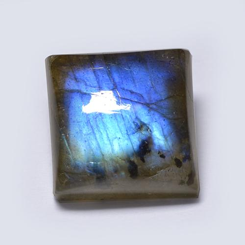 Multicolor Labradorite Gem - 6.3ct Square Cabochon (ID: 512879)