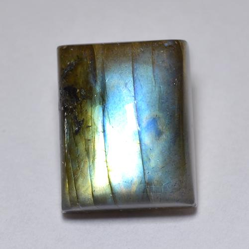 Blue-Sheen Gray Labradorite Gem - 5.8ct Baguette Cabochon (ID: 512930)