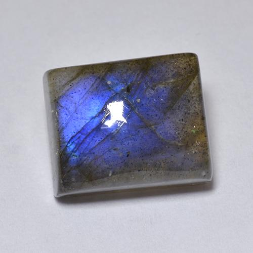 Blue-Sheen Gray Labradorite Gem - 6.3ct Baguette Cabochon (ID: 512940)