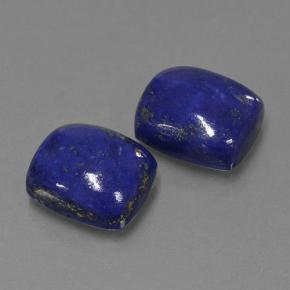 Dark Blue Lapis Lazuli Gem - 4.8ct Cushion Cabochon (ID: 503920)