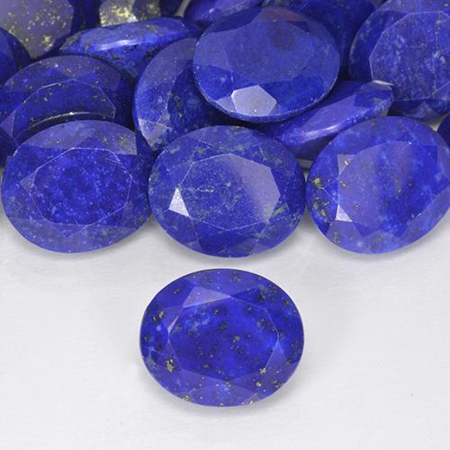 4.33 ct Oval Facet Blue Lapis Lazuli Gemstone 12.15 mm x 10.1 mm (Product ID: 506097)