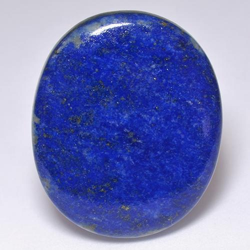 Electric Blue Lapis Lazuli Gem - 53.5ct Oval Cabochon (ID: 521780)