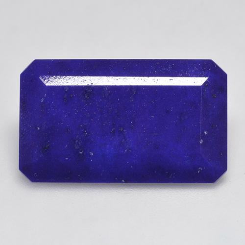 Intense Navy Blue 青金石 Gem - 17.1ct 八角阶梯切割 (ID: 522387)
