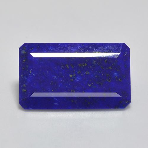 Intense Navy Blue 青金石 Gem - 16ct 八角阶梯切割 (ID: 523679)