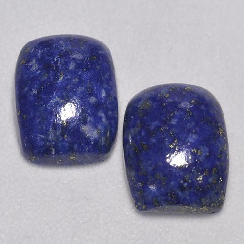 Deep Blue Lapis Lazuli Gem - 1.5ct Cushion Cabochon (ID: 526551)