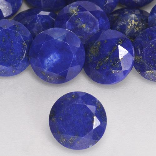 0.80 ct Round Facet Blue Lapis Lazuli Gemstone 5.96 mm  (Product ID: 527376)