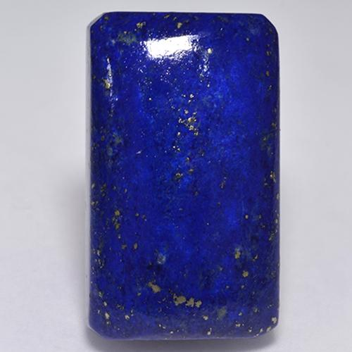 Intense Navy Blue Lapis Lazuli Gem - 32.3ct Octagon Cabochon (ID: 528243)