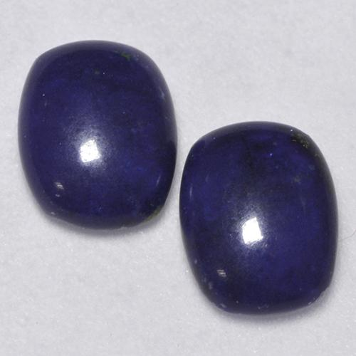 Dark Blue Lapis Lazuli Gem - 0.9ct Cushion Cabochon (ID: 528301)