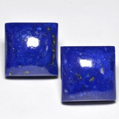Bright Blue Lapis Lazuli Gem - 7.6ct Square Cabochon (ID: 552966)