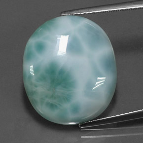 Buy 19.66 ct Green Blue Larimar 21.13 mm x 18.1 mm from GemSelect (Product ID: 237347)