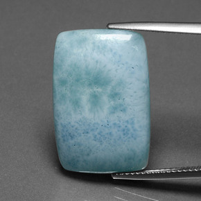 thumb image of 13.3ct Cushion Cabochon Blue Green Larimar (ID: 391330)