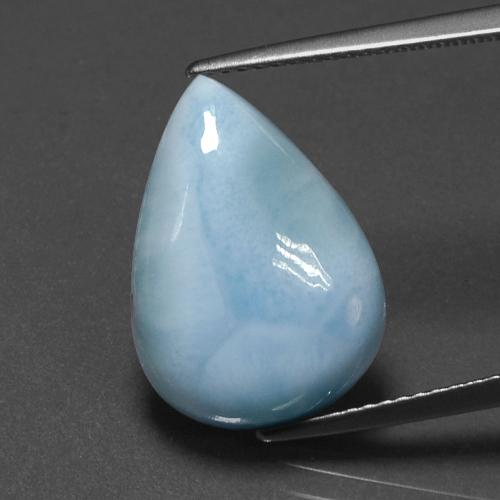 Green Blue Larimar Gem - 7.7ct Pear Cabochon (ID: 391393)