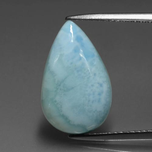 Light Sky Blue Larimar Gem - 5ct Cabochon pera (ID: 391548)