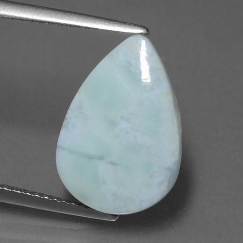 Blue Larimar Gem - 5.3ct Pear Cabochon (ID: 433581)