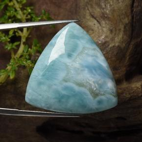 Light Greenish Blue Larimar Gem - 32.4ct Trillion taglio cabochon (ID: 492341)
