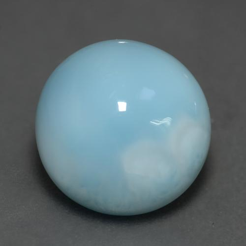 Medium Blue Larimar Gema - 6.2ct Cabujón Redondo (ID: 541484)