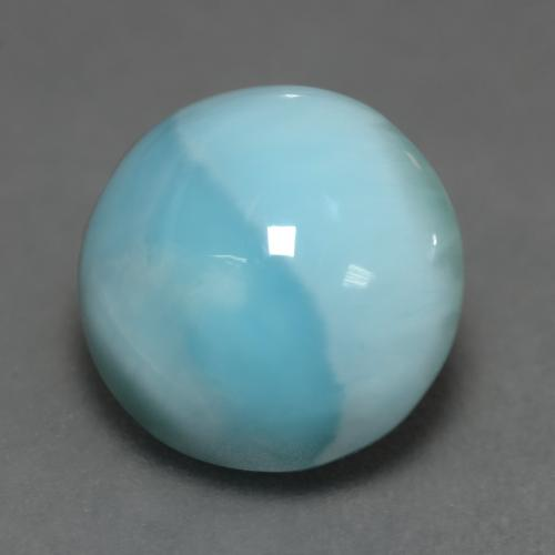 Light Blue Larimar Gem - 6.5ct Round Cabochon (ID: 541492)