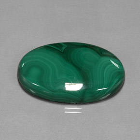 Buy 55.31 ct Multicolor Green Malachite 33.22 mm x 22.2 mm from GemSelect (Product ID: 297257)