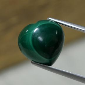 Multicolor Green Malachite Gem - 8.3ct Heart Cabochon (ID: 306724)
