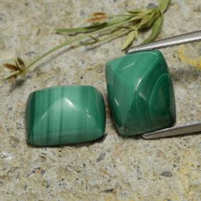 Multicolor Green Malachite Gem - 4.7ct Baguette Sugarloaf Cabochon (ID: 323279)