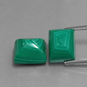 Multicolor Green Malachite Gem - 7.9ct Baguette Sugarloaf Cabochon (ID: 341828)