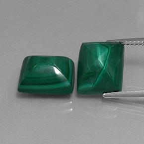 Multicolor Green Malachite Gem - 7.2ct Baguette Sugarloaf Cabochon (ID: 341956)