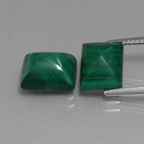 Multicolor Green Malachite Gem - 5.1ct Baguette Sugarloaf Cabochon (ID: 341990)