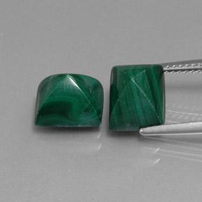 Multicolor Green Malachite Gem - 4.4ct Baguette Sugarloaf Cabochon (ID: 341995)