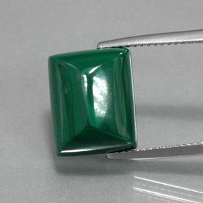 Multicolor Green Malachite Gem - 15.5ct Baguette Sugarloaf Cabochon (ID: 370698)