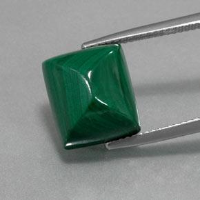 thumb image of 13.3ct Baguette Sugarloaf Cabochon Multicolor Green Malachite (ID: 370700)