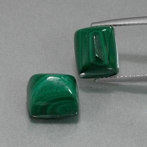 Multicolor Green Malachite Gem - 8ct Baguette Sugarloaf Cabochon (ID: 371120)