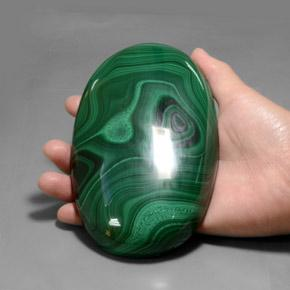 Multicolor Green Malachite Gem - 3000ct Oval Cabochon (ID: 377422)