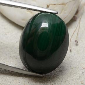 Multicolor Green Malachite Gem - 24.5ct Oval Cabochon (ID: 482283)