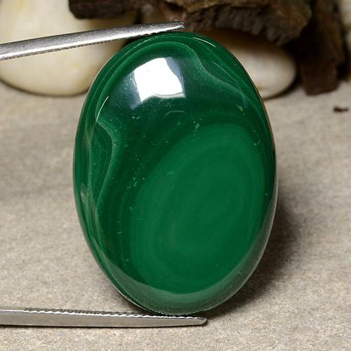 Multicolor Green Malachite Gem - 50.9ct Oval Cabochon (ID: 484004)
